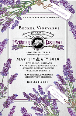 Sunday, May 6th- Lavender Fest Luncheon